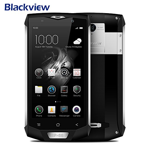Dual SIM Smartphone Unlocked Android, Blackview BV8000 Pro Smartphone IP68 Waterproof MT6757 Octave Core 6G RAM 64G ROM 5.0'' 1920 1080 16.0MP 4G Android 7.0 Phone by Molie