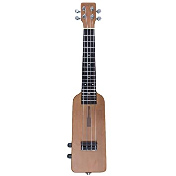 YOUKELILIA Tooyful Exquisite Okoume 21 Pulgadas Soprano Ukulele Eléctrico Guitarra de 4 cuerdas Diapasón de palisandro