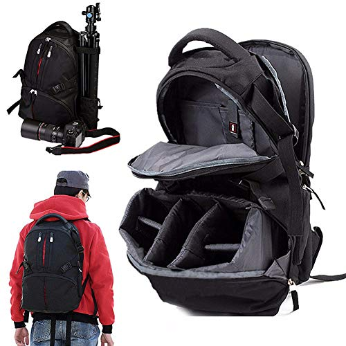 Shentesel Professional Waterproof Backpack Photography Package SLR Camera Laptop Bag Pouch - Black by Shentesel (Image #2)