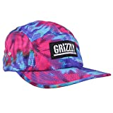 5 panel hat tie dye - Grizzly Griptape 5 Panel Snapback Hat Cotton Candy