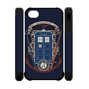Custom Your Own Personalized Doctor Who and Sherlock 3D Polymer iPhone 4/4S Case Snap-on Hard Case Cover