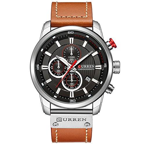 Fashion Business Quartz Men's Watch Casual Chronograph Sport Wristwatch with Calendar