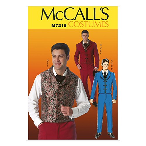 McCall's Patterns M7216 Jackets, Vests, Pants and Cravat Sewing Template, MEN (SML-MED-LRG-XLG-XXL)