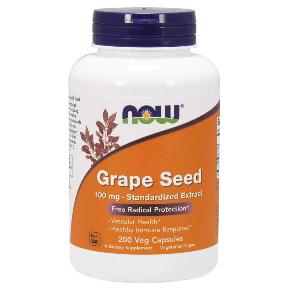 NOW® Grape Seed Extract, 100 mg, 200 Veg Caps