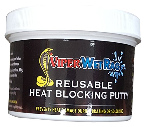 Refrigeration Technologies RT400P Viper Wetrag Heat Blocking Putty Jar (1), 12 oz.