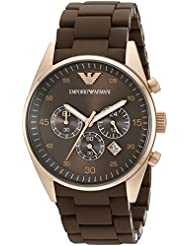 Emporio Armani Mens AR5890 Sport Brown Silicone Watch