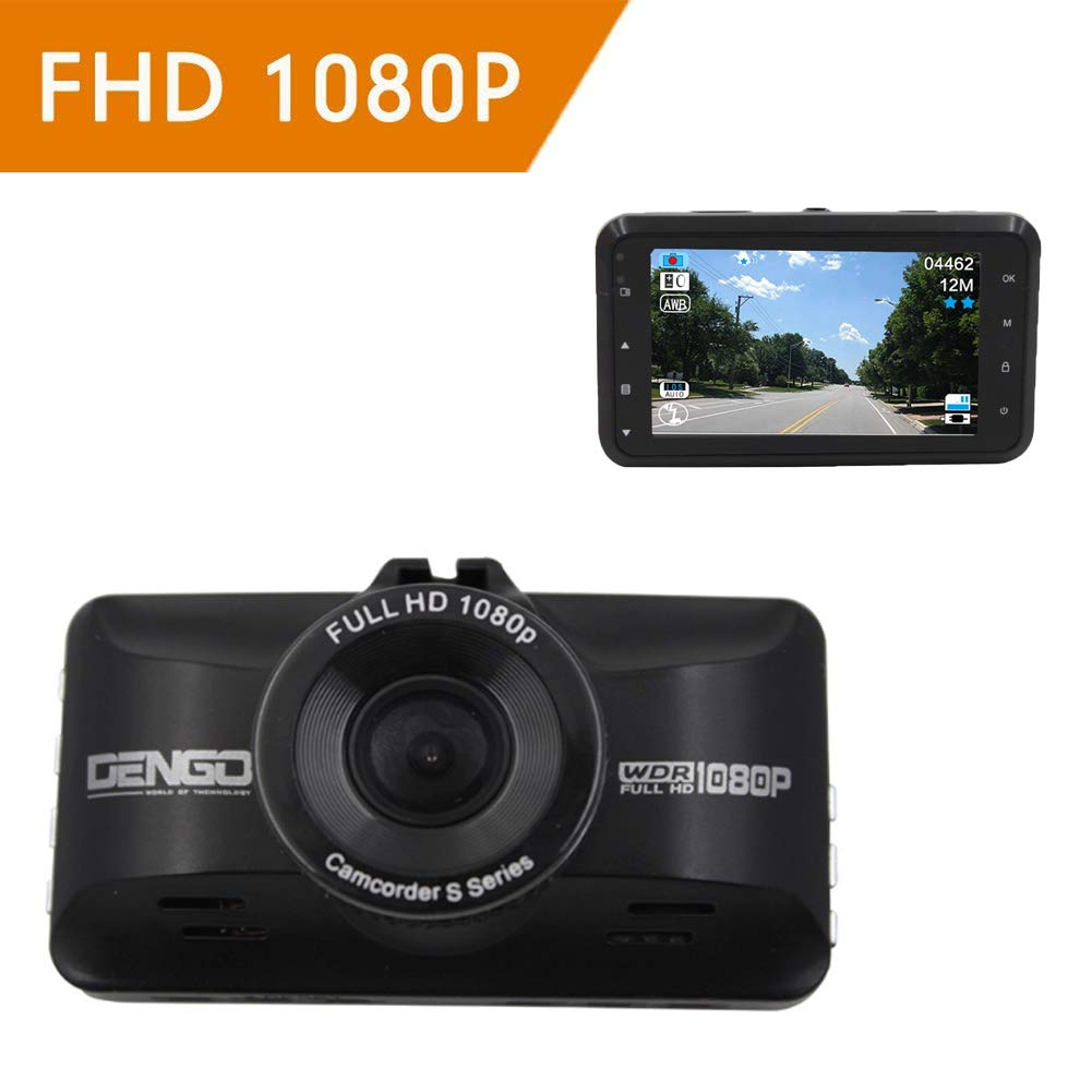ZYWX Full HD 1080P Car Video Recorder 170° Wide Angle, Loop Recording, Gravity Sensing, G Sensor, Night Vision