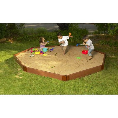 Frame It All Two Inch Series Composite Sandbox Kit, 10' x 10' x 55