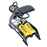 vacuum jar pump - Bike Pumps Bicycle Floor Pumps Bike Tire Bump with Accurate Gauge High Pressure Pedal Inflator 150psi/200psi for Bicycles, Motorcycles, Cars, Tractors, Toys, Balls and Inflatables (Double Barrels)