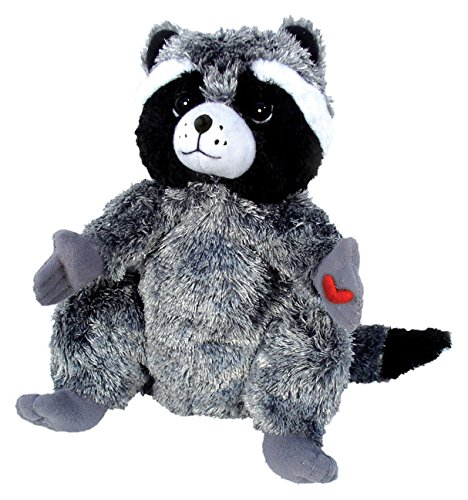 MerryMakers Kissing Chester Raccoon 9 Inch