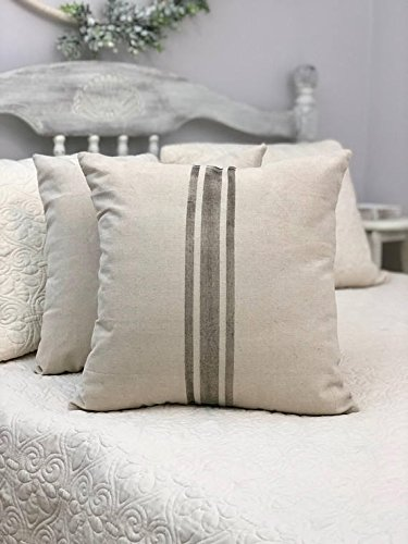 Amazon Pillow Cover Ticking Stripe Farmhouse Stripes Ticking Cool Grain Sack Pillow Covers