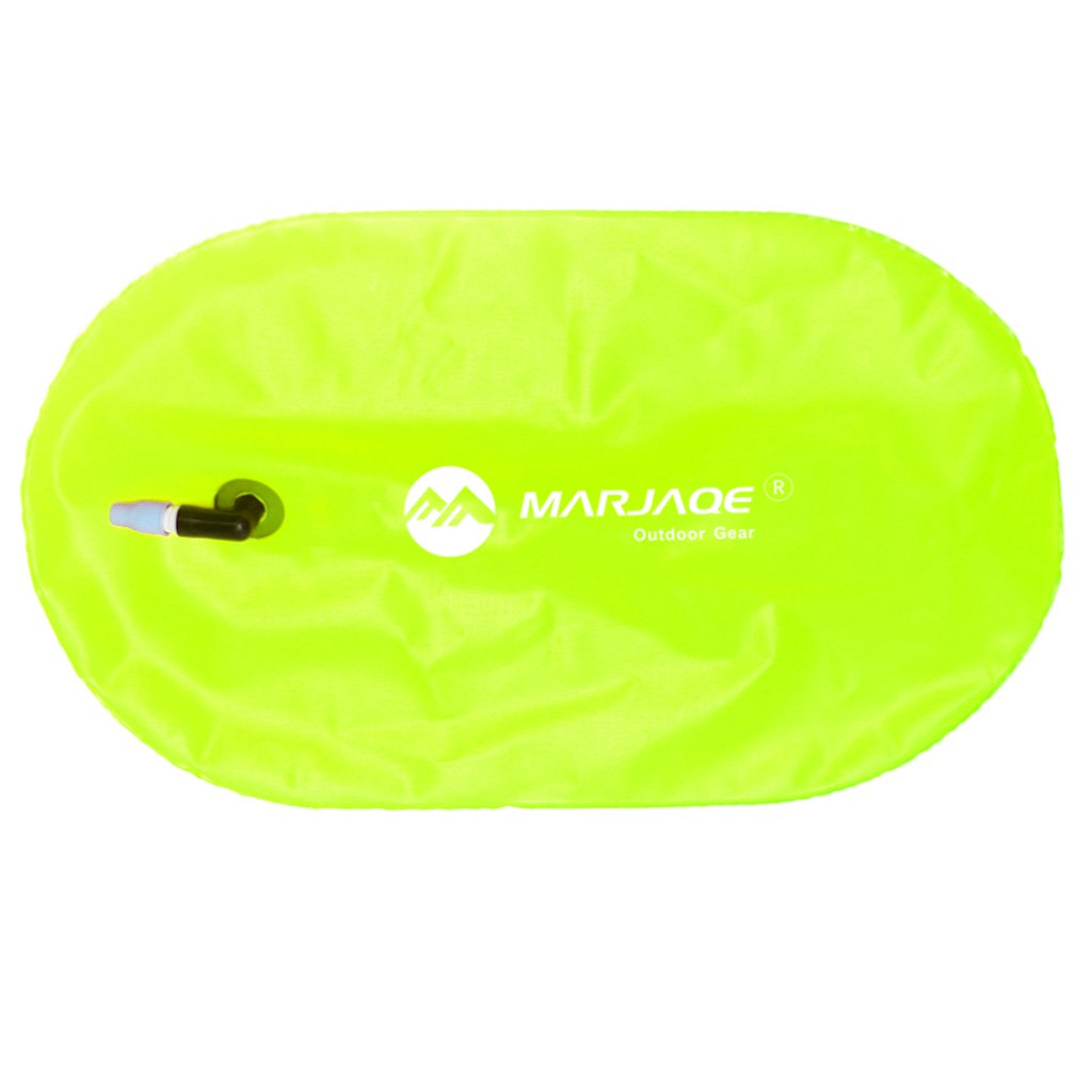 Baosity Waterproof PVC Swim Buoy Tow Float Air Bag Inflatable Swimming Bag with Waist Belt - Lightweight & Highly Visible - Fluo Yellow by Baosity (Image #8)