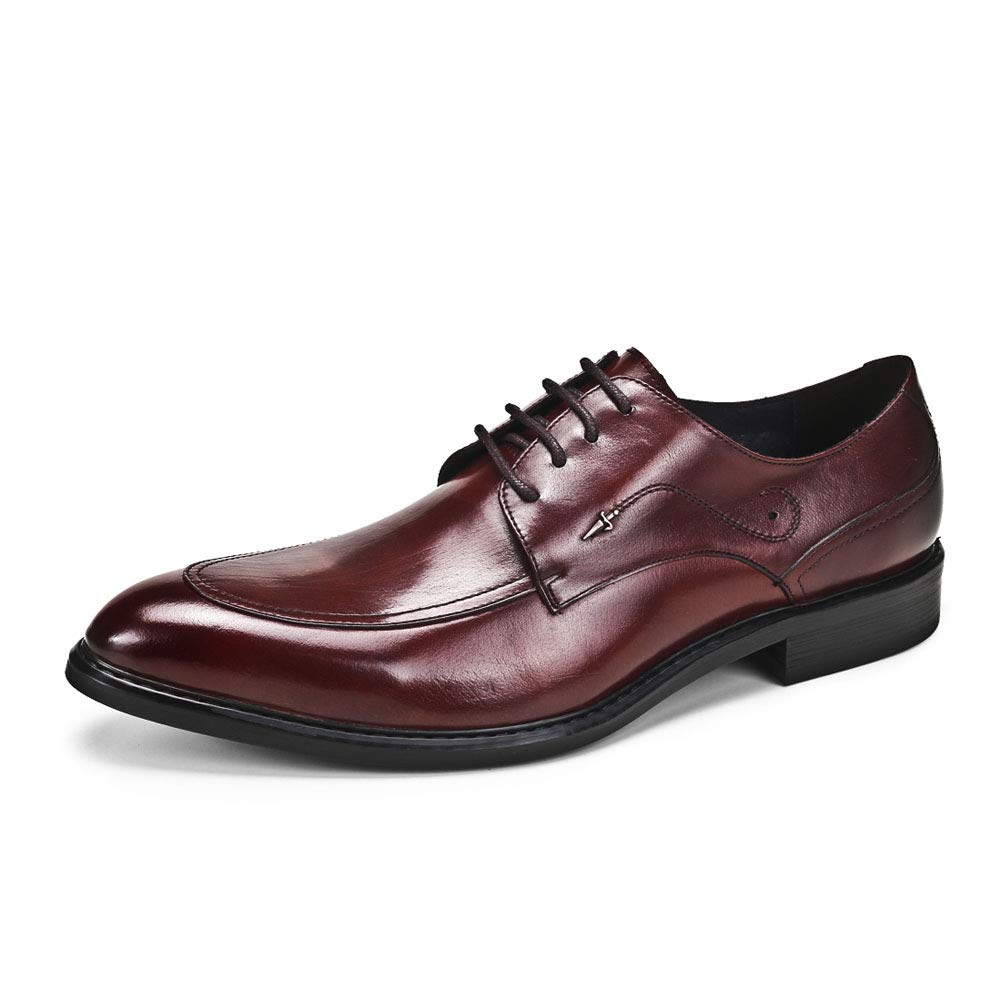 Red Men's Derby shoes Handmade British shoes Lace-up shoes Business shoes Gentleman shoes for Meeting Marry