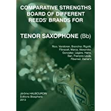 Comparative strengths board of different reeds' brands for Tenor Saxophone (Bb)