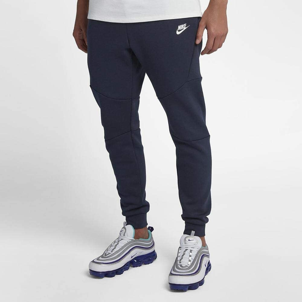 Nike M NSW TCH FLC Jggr Sport Trousers, Hombre, Obsidian/(White ...