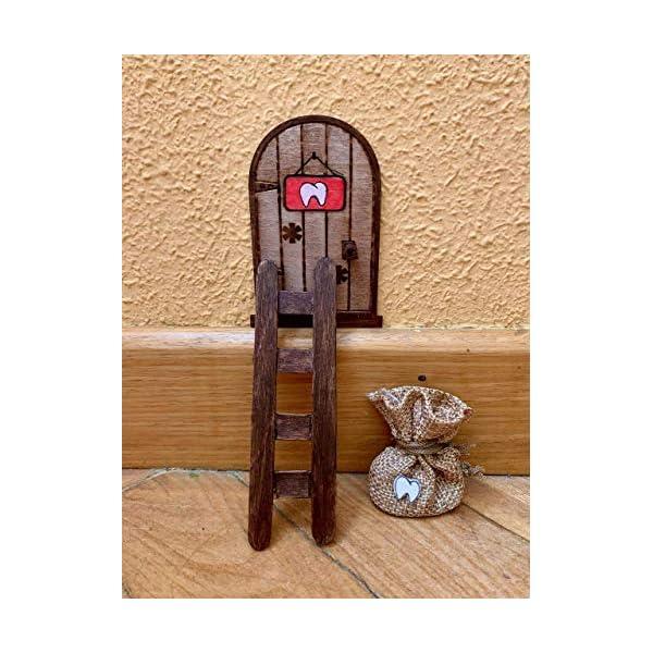 Puerta Ratón Pérez mágica. Regalo original niño niña Ratoncito Pérez. Hecho a mano en España 2