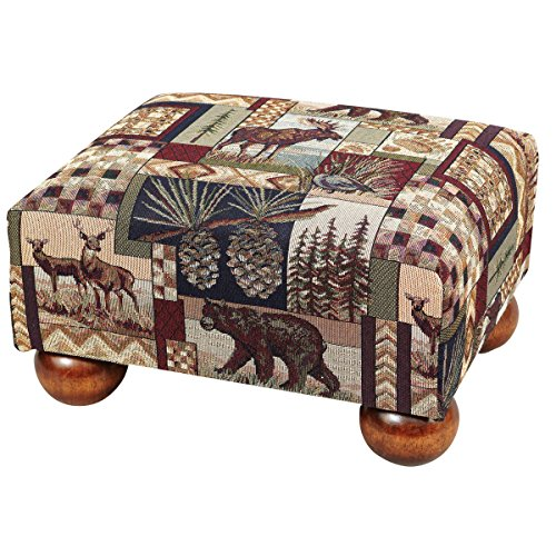 Black Forest Decor Woodland Cabin Footstool - Wilderness - Woodland Oak Rack Coat