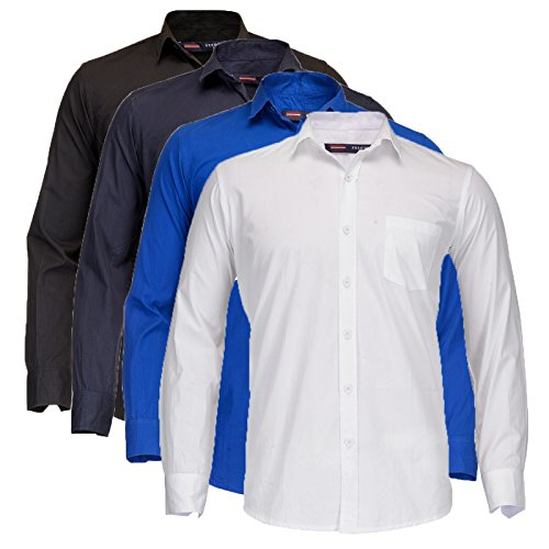 Feed Up Pack Of 4 Men's Single Pocket Cotton Shirt