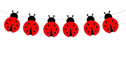 amazon com crafty cue red ladybug banner red ladybug garland red
