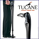 Tucane Lite 8X- Self-Propelled Advanced Walking Stick (8x lighter than old version) (Black/ Gray Tones)