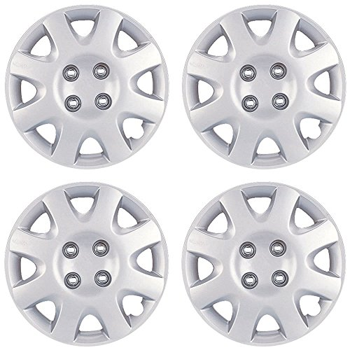 14' Silver Hubcaps (NEW 14' SILVER/LACQUER ABS WHEEL COVER HUB CAPS 4PC SET for HONDA CIVIC 98-00)