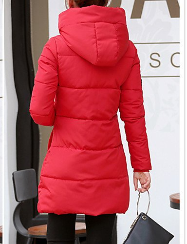 YRF Sleeve Padded Blue BLACK Hooded Long Gray Coat Red White Black Women's 2XL Simple Pink Print raOwxrCq