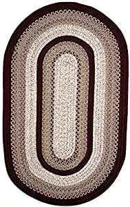 Amazon Com Thorndike Mills Oval Braided Rug 11 Feet By 8 Feet