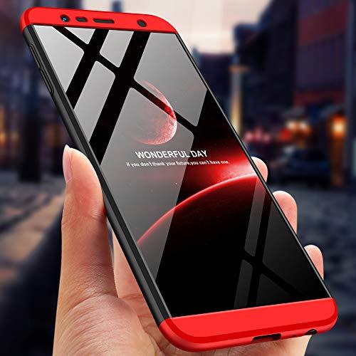 Funda Galaxy J6 Prime/J6 plus 2018,360 grados Protección Case + pantalla de Cristal Templado,3 in 1 Anti-Arañazos Carcasa Case Caso Fundas teléfonos Móviles ...
