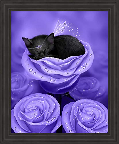 Lilac Daydreams by Melissa Dawn Framed Art Print Wall Picture, Traditional Black Frame, 19 x 23 inches - Lilac Daydream