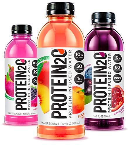 Protein2o Low Calorie Protein Infused Water, 10g Whey Protein Isolate, Variety Pack (16.9 Oz, Pack Of 12) (Best Protein Fruit Juice)