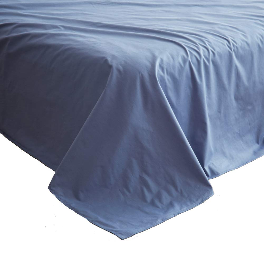Solid Color Flat Sheet, Top Sheets Cotton Simple Single Double Bed Student Bed Sheet Pack of 1-A W200xH230cm(79x91inch) SHEETS&BED