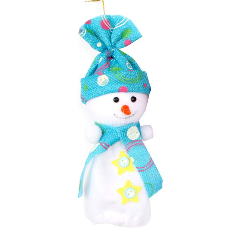 YaptheS Christmas Eve Cute Wrapping Snowman Shaped Candy Cookie Apple Bags Christmas Decoration Supplies-Blue Christmas Gift by YaptheS (Image #1)