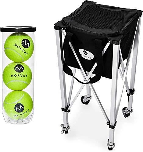 עגלת כדור טניס של חברת morvat שיכולה להחזיק עד 150 כדורים !