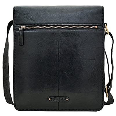 HIDESIGN Aiden Medium Leather Messenger Cross body Bag