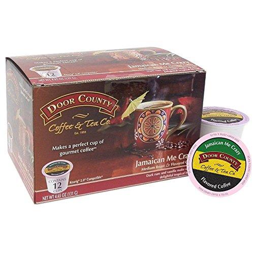Door County Coffee, Single-Serve Cups for Keurig Brewers, Jamaican Me Crazy, 36 Count ()