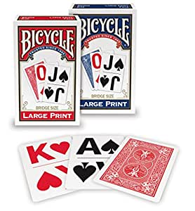 Amazon Com Bicycle Large Print Playing Cards Sports