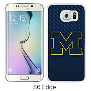Unique Samsung Galaxy S6 Edge Screen Case ,Popular And Durable Designed Case With NCAA Michigan Wolverines White Samsung Galaxy S6 Edge High Quality Phone Case