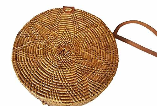 Round US Circle Tan ATA Crossbody Handbag SELLER Starfish Straw Rattan Bali Shoulder Bag Basket Handwoven rYUwZrq