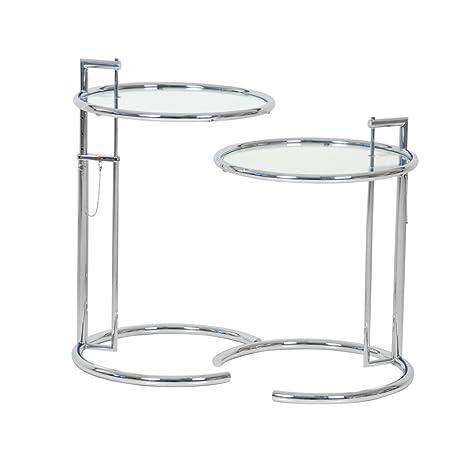 Eileen Gray Tavolino Prezzo.2 X Adjustable Table E1027 Eileen Gray Clas Sicon Tavolino