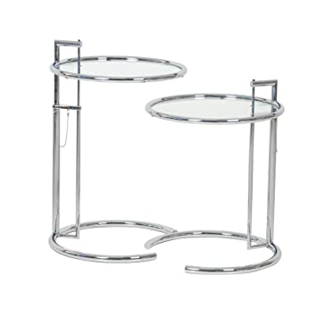 2x adjustable table e1027 eileen gray classicon beistelltisch