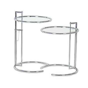 Eileen Gray Beistelltisch 2x adjustable table e1027 eileen gray classicon beistelltisch