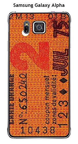 Carcasa Samsung Galaxy Alpha Design - Retal de tarjeta ...