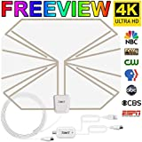 Skywire TV Antenna HD Digital, TV Antenna with 150 Miles Range Support 4K 1080P, Indoor Digital HDTV Antenna & Amplifier Signal Booster USB Power Supply-16.4ft Coax Cable by JONYJ (