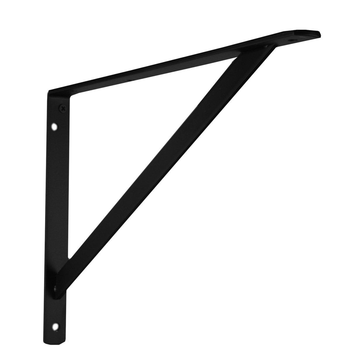 John Sterling THE MAX BRACKET Shelf Bracket, 16-inch, Black, 0049-16BKH