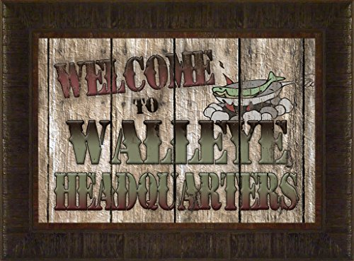 Walleye Headquarters By Todd Thunstedt 17.5x23.5 Bait Lake Landscape Bass Largemouth Smallmouth Fish Fishing Bass Musky Muskellunge Boat Daredevil Minnow Babe Winkelman Tournament Field and Stream In-Fisherman Outdoor Life Magazine Cane Pole Net Fillet Knife Motor Depth Finder Ice Auger Framed Art Print Wall Décor Picture