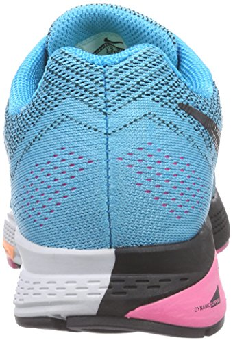 Nike Air Zoom Structure 18 - Zapatillas Mujer Turquesa (blue lagoon/black/pink pow/sunset glow)