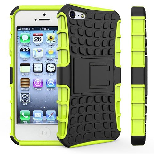 Apple iPhone 4 / 4S Outdoor Handy Tasche Grün Hybrid Case Schutz Hülle Panzer TPU Silikon Hard Cover Bumper I betterfon