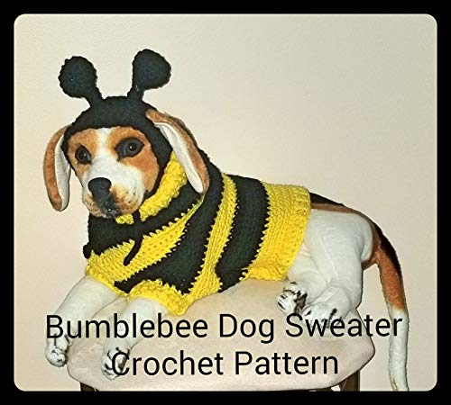 Bumblebee Dog Sweater Crochet Pattern