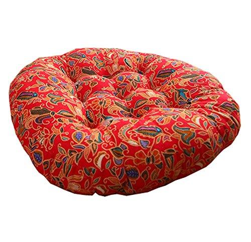 DRAGON SONIC Retro Thicken Cotton Linen Floor Pillow Cushion