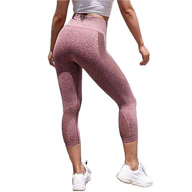 Leisial Mallas Pantalones de Fitness para Correr Pantalones ...